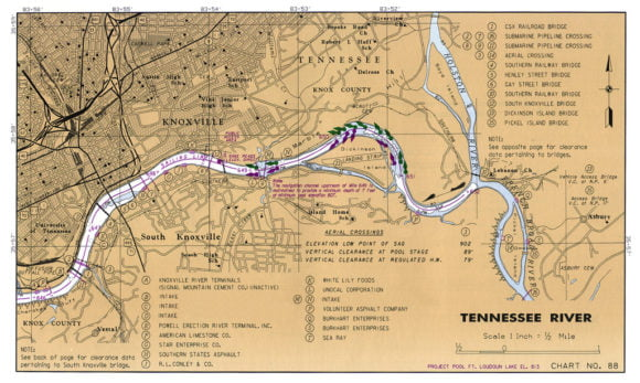 COE Navigation Maps TN River begins
