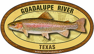 Guadalupe River TX Flyfish Fishing decal