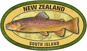 New Zealand South Island Flyfish Fishing decal