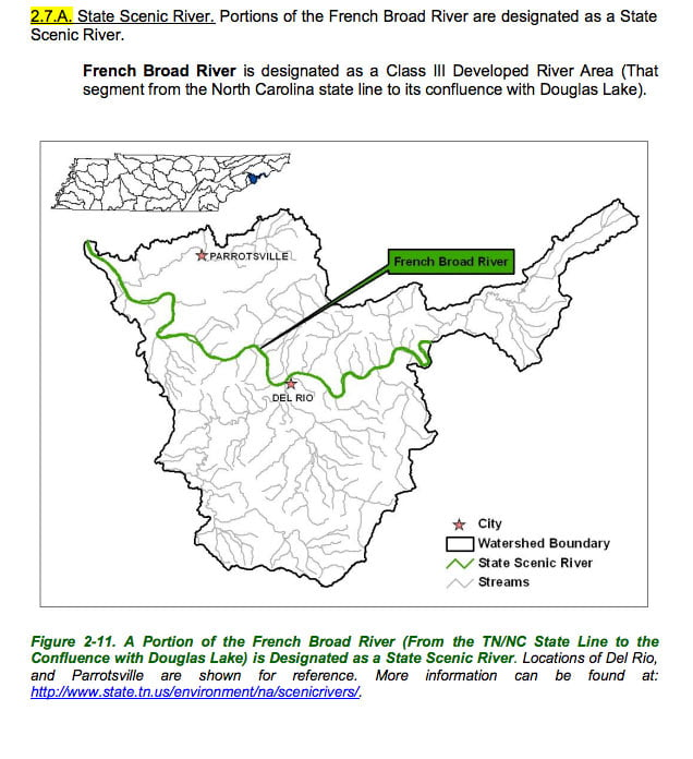 Localwaters French Broad River Maps Boat Ramps TN
