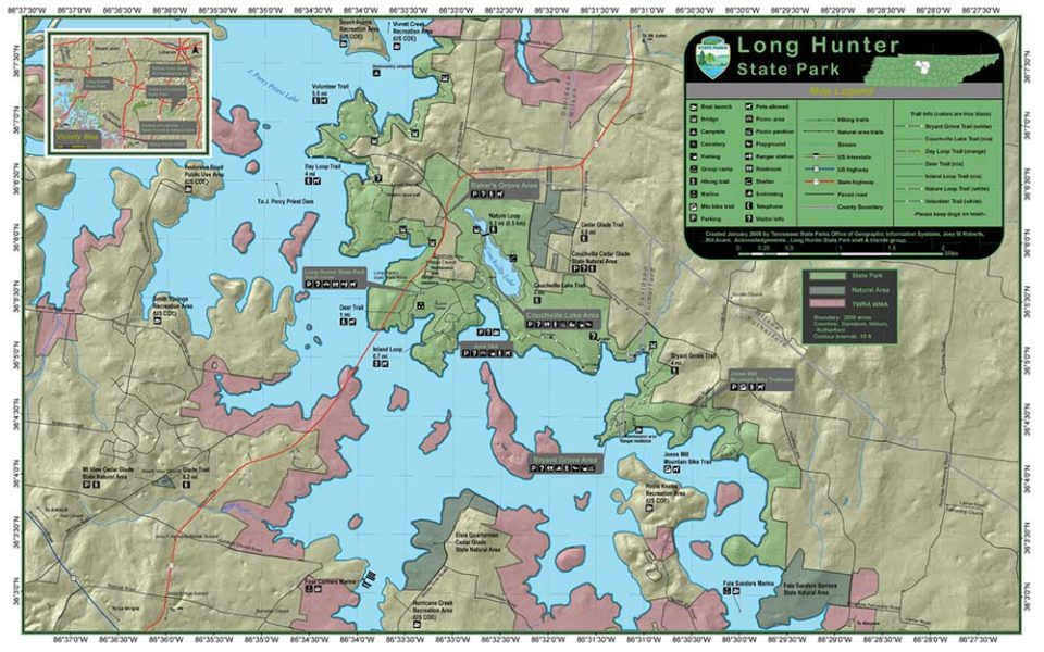 percy priest lake maps