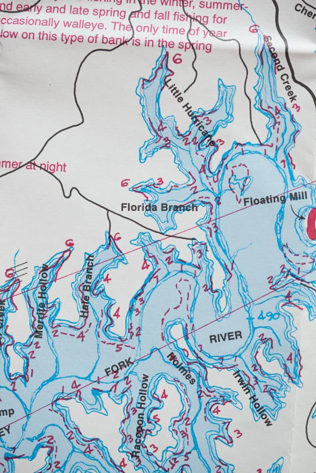 Old Hickory Lake Topographic Map.Localwaters Center Hill Lake Maps Boat Ramps