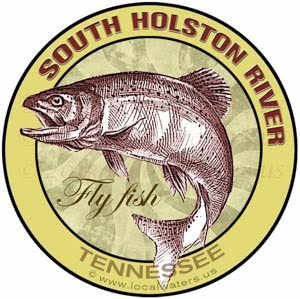 South Holston River Fly Fish Sticker Tennessee