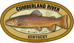 Localwaters Kentucky Trout And Fly Fishing Rivers Stickers