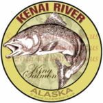 Kenai River King Salmon Sticker