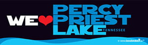 We heart Percy Priest Lake Decal