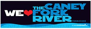 We Heart Caney Fork River Tennessee Decal