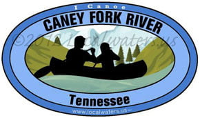 Caney Fork River Canoe Decal