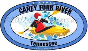 Caney Fork River Tennessee Kayak Localwaters 5x3 Decal Sticker