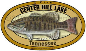 Center Hill Lake Tennessee Smallmouth Bass Localwaters 5x3 Decal Sticker