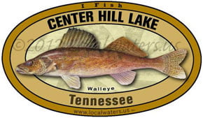 Center Hill Lake Tennessee Walleye Localwaters 5x3 Decal Sticker