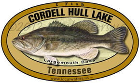Cordell Hull Lake Tennessee Largemouth Bass Decal Product