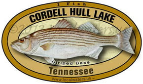Cordell Hull Lake Tennessee Striped Bass Decal Product