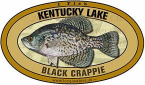 Kentucky Lake Tennessee Crappie Sticker Decal 5x3