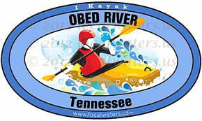 Obed River Tennessee TN kayak sticker decal 5x3