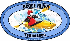 Ocoee River Tennessee TN Kayak Sticker Decal 5x3