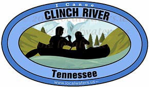 Clinch River Tennessee Canoe Sticker Decal 5x3