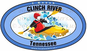 Clinch River Tennessee Kayak Sticker Decal 5x3