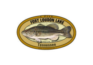 Fort Loudon Lake Tennessee Largemouth Bass Sticker Decal 5x3