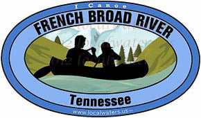 French Broad River Tennessee canoe sticker decal 5x3