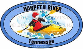 Harpeth River Tennessee kayak sticker decal 5x3