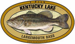 Kentucky Lake Tennessee Kentucky Largemouth Bass sticker decal