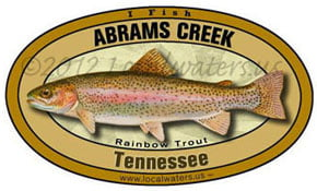 abrams creek Tennessee rainbow trout decal sticker 5x3