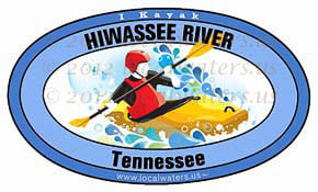 Hiwassee River Tennessee TN Kayak Sticker 5x3