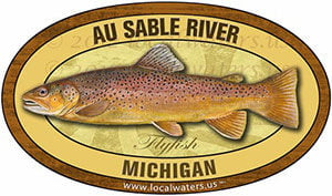 Au Sable River Michigan Fly Fishing decal sticker