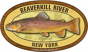 Beaverkill River New York Flyfish Fishing decal
