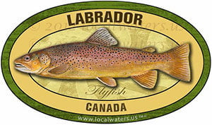Labrador Canada Flyfish Fishing decal