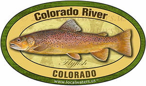 Colorado River Colorado Flyfish Fishing decal