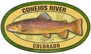 Conejos River CO Flyfish Fishing decal