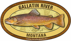 Gallatin River MT Flyfish Fishing decal