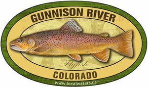 Gunnison River CO Flyfish Fishing decal