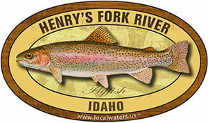 Henry's Fork River Idaho Flyfish Fishing decal