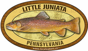 Little Juniata River PA Flyfish Fishing decal