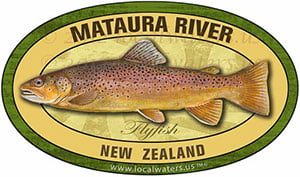 Mataura River New Flyfishing trout decal sticker