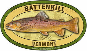 Battenkill River Vermont Flyfish Fishing decal