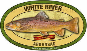 White River World Record Line Class Fishing decal