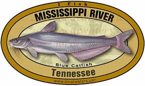 Mississippi River Blue Catfish Decal Sticker