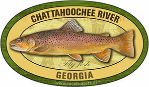 Chattahoochee River brown trout sticker decal flyfishing