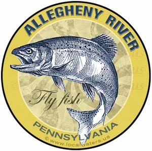 Allegheny River Fly Fishing sticker