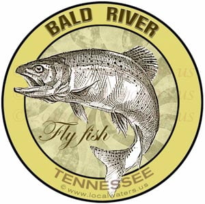 Bald River Fly Fishing sticker Tennessee