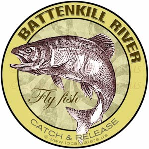 Battenkill River Fly Fish Vermont Sticker
