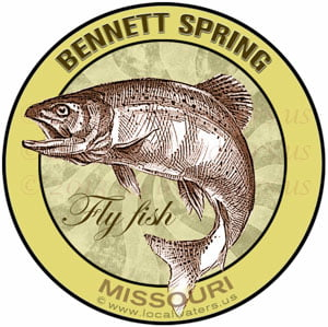 Bennet Springs Flyfish Missouri Sticker