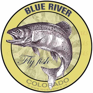 Blue River Fly Fish Colorado sticker