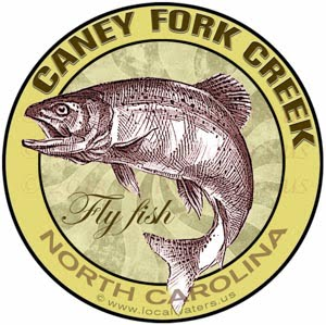 Caney Fork Creek Fly Fishing Sticker