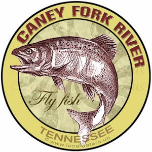 Caney Fork River Fly Fishing Sticker Tennessee