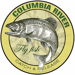 Columbia River Fly Fish Catch Release sticker